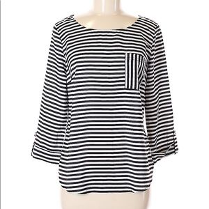 41 Hawthorn black and white striped blouse.
